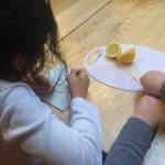 Geheime brief schrijven met citroensap